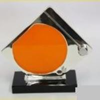 Picture of Aluminium Trophy with Orange Perspex