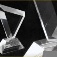 Picture of Angled Clear Glass Trophy S9322A