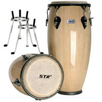 "Picture of STR Conga Drum Wood 10"" + 11"""